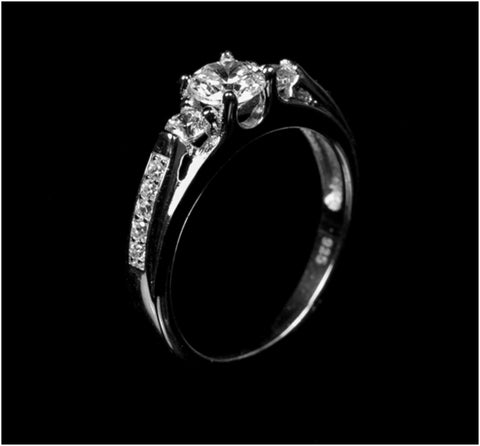 Jakira Three Stone Fashion Promiset Ring | 1.5ct | Cubic Zirconia | Sterling Silver - Beloved Sparkles