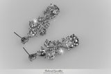 Salma Art Deco Cluster Chandelier Earrings | 14 Carat | Cubic Zirconia - Beloved Sparkles  - 10