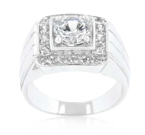 Edwin Pave Cubic Zirconia Men Ring | 3.5ct | Cubic Zirconia - Beloved Sparkles  - 2
