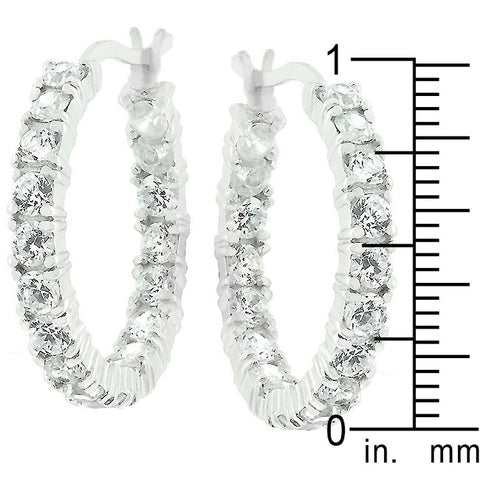Acacia Round Eternity Hoop Earrings | 4.5ct | Sterling Silver