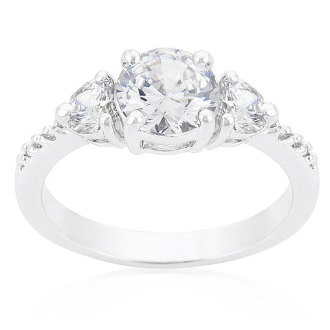 Alba Three Round Stone Engagement Ring | 2.5ct | Cubic Zirconia - Beloved Sparkles  - 2