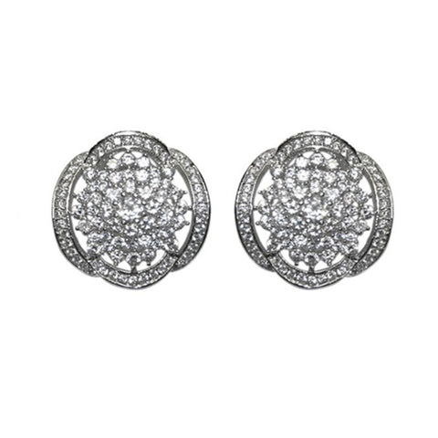Alisa Fancy Cluster CZ Stud Earrings