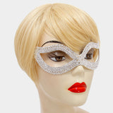 Bathia Classic Cluster Mask | Silver | Crystal - Beloved Sparkles  - 2