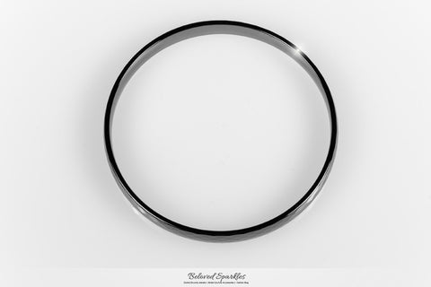 Laurette Black Hematite Ceramic Bangle Bracelet  | Ceramic - Beloved Sparkles  - 2