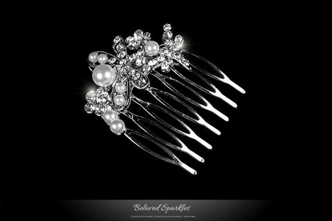 Harmon Petite Dragonfly Hair Comb | Pearl | Rhinestone - Beloved Sparkles  - 2
