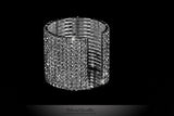 Rione 14 Rows Crystal Cuff Bracelet | Crystal - Beloved Sparkles  - 2