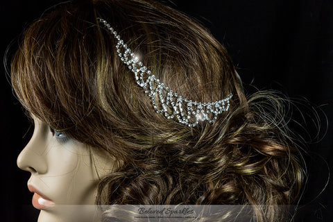 Essie Vintage Hair Chain and Forehead Chain | Rhinestone - Beloved Sparkles