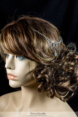 Gretel Vintage Hair Chaain and Forehea Chain | Rhinestone - Beloved Sparkles