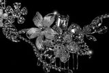 Helen Flower Garden Hair Comb | Swarovski Crystal - Beloved Sparkles