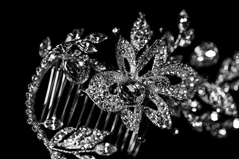 Trina Flower Twine Hair Comb | Swarovski Crystal - Beloved Sparkles  - 2