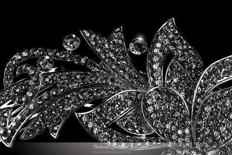 Brook Art Deco Ribbon Hair Comb | Crystal - Beloved Sparkles