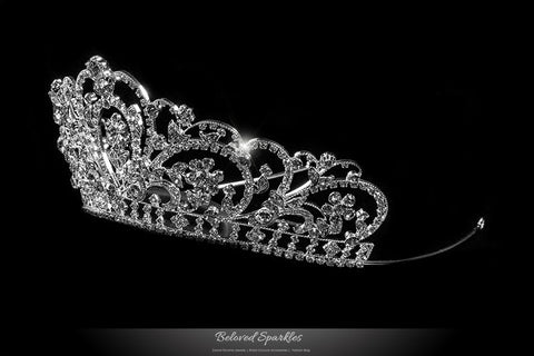 Lorelei Royal Statement Silver Tiara | Swarovski Crystal - Beloved Sparkles  - 2