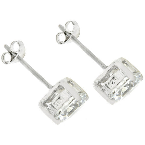Blossom Round Cut Stud Earrings – 4mm | 0.5ct | Sterling Silver