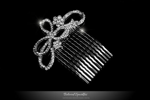 Ondina Petite Ribbon Hair Comb | Crystal - Beloved Sparkles  - 2