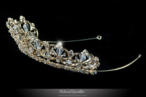 Marissa Vintage Art Deco Gold Tiara | Swarovski Crystal - Beloved Sparkles  - 2