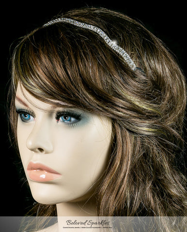 Rita Wavy Rhinestone Stretch Headband | Rhinestone - Beloved Sparkles  - 2