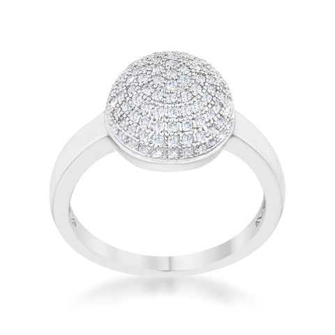 Brie Contemporary Sphere Cluster Fashion Cocktail Ring | 1 Carat |Cubic Zirconia