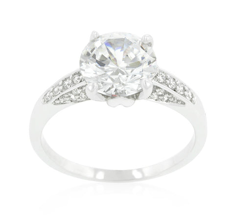 Carmela Contemporary Round Solitaire Ring | 4ct | Cubic Zirconia - Beloved Sparkles  - 2
