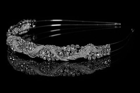 Marvet Chain Cluster Headband | Rhinestone - Beloved Sparkles