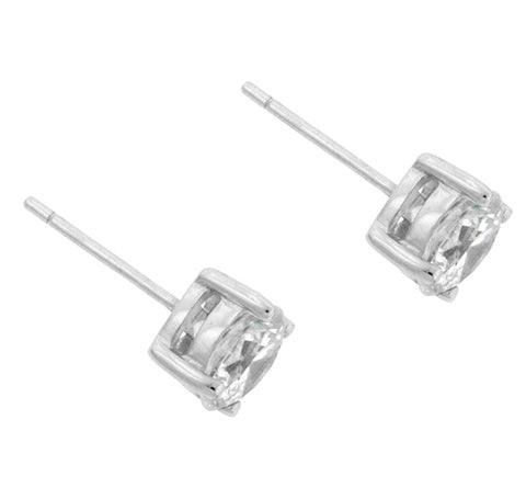 Christa Round Cut Stud Earrings – 6mm  | 1.5ct | Sterling Silver