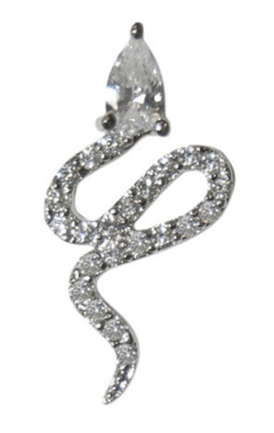 Dalaina Snake CZ Stud Earrings | Cubic Zirconia | Silver