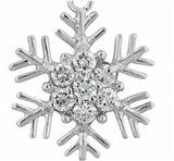 Flicky Snowflake  Drop Earrings | 2ct | Cubic Zirconia