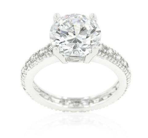 Genevi Classic Soliatire Engagement Eternity Ring | 4ct | Cubic Zirconia - Beloved Sparkles  - 1