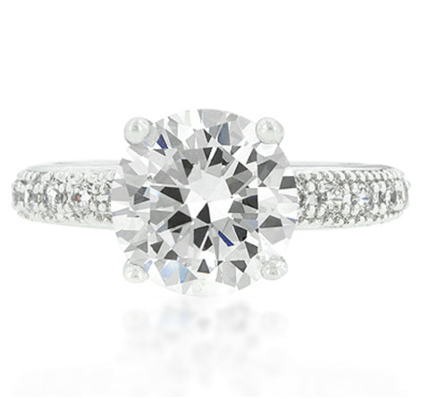 Genevi Classic Soliatire Engagement Eternity Ring | 4ct | Cubic Zirconia - Beloved Sparkles  - 3