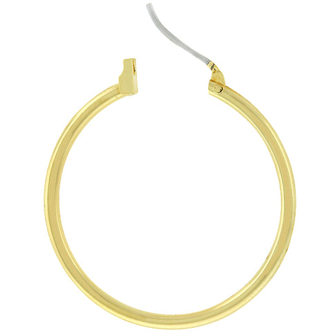 Glem Basic Golden Hoop Earrings - 32.5mm