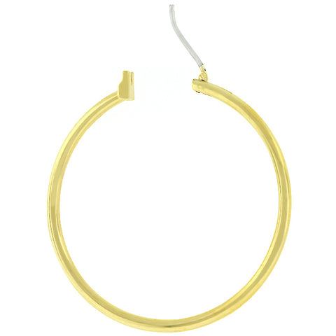 Glem Basic Golden Hoop Earrings - 38mm