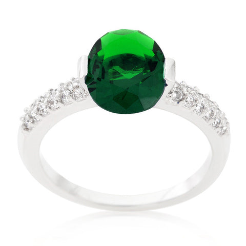 Harla Emerald Green Oval Cut Solitaire Engagement Ring | 3  Carat | Cubic Zirconia - Beloved Sparkles  - 3