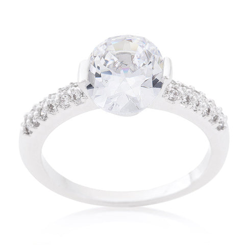 Harla Oval Cut Solitaire Engagement Ring | 2.2ct | Cubic Zirconia - Beloved Sparkles  - 3