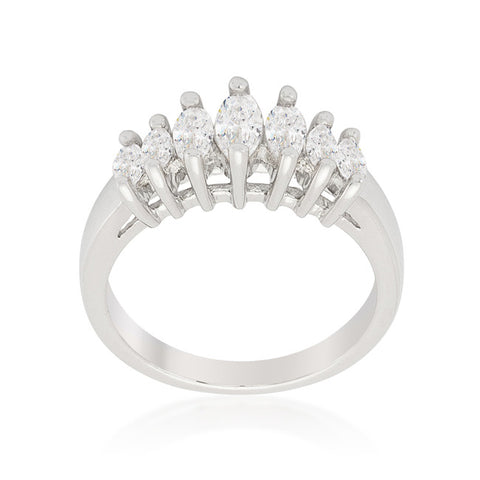Iva Marquise Cluster Eternity Ring | 2 Carat | Cubic Zirconia - Beloved Sparkles