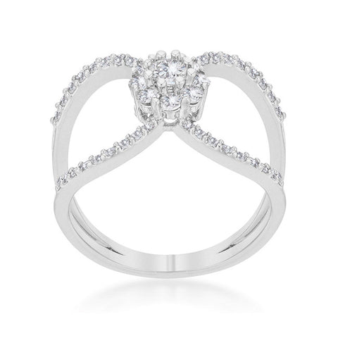 Joyce Delicate Floral Wrap Fashion Cocktail Ring | 1.5 Carat |Cubic Zirconia - Beloved Sparkles  - 2