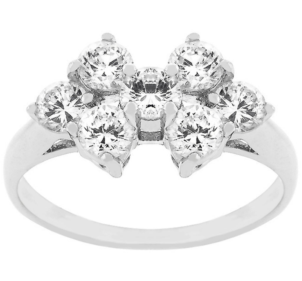 Kacie Round CZ Cluster Fashion Ring | 2ct | Cubic Zirconia