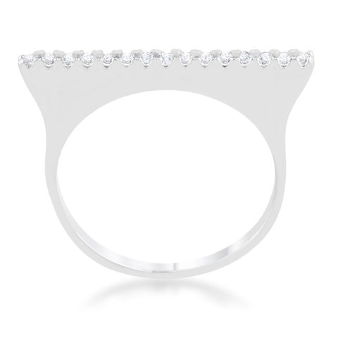 Karolina Contemporary Simple Line Fashion Cocktail Ring | 0.5 Carat |Cubic Zirconia - Beloved Sparkles  - 2