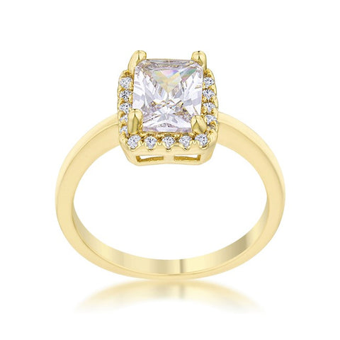 Mariane 2ct Radiant Cut 14k Gold Engagement Ring | 2.5ct