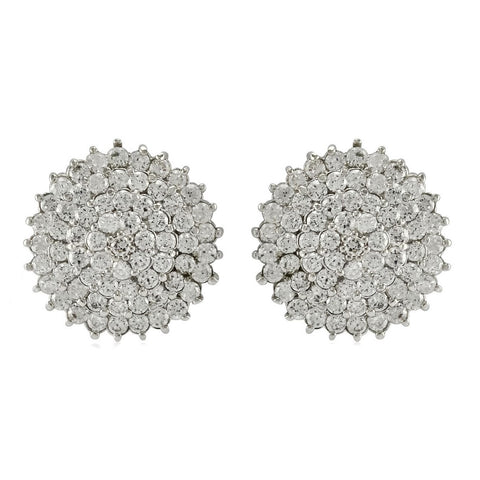 Parley CZ Pave Dome Stud Earrings