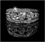 Ina Tier Eternity Anniversary Ring | 5ct | Cubic Zirconia