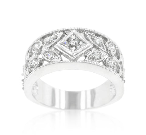 Spring Floral Cocktail Eternity Ring | 2 Carat | Cubic Zirconia - Beloved Sparkles  - 2
