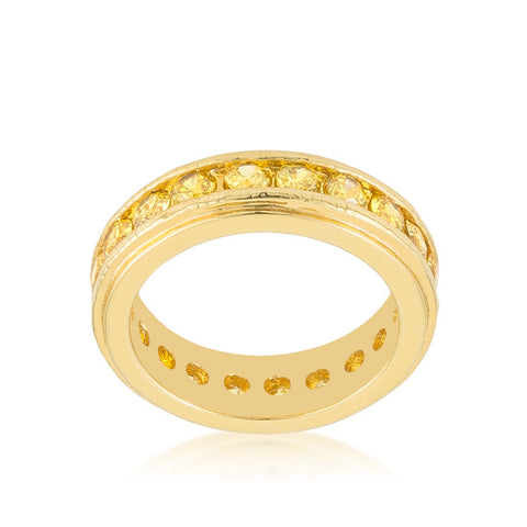 Trixie Lustrous Eternity Stackable Ring | 3 Carat | 18k Gold | Cubic Zirconia - Beloved Sparkles  - 2