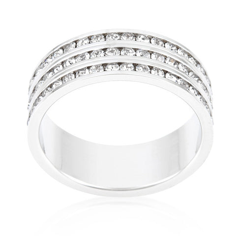 Tyra Triple Row Eternity Ring | 2 Carat | Cubic Zirconia - Beloved Sparkles  - 2
