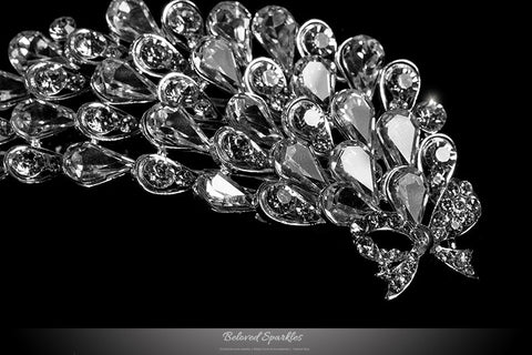 Myriam Crystal Flower Petal Hair Comb | Crystal - Beloved Sparkles