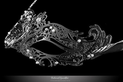 Liana Silver Metal Lace Masquerade Mask | Metal - Beloved Sparkles  - 2