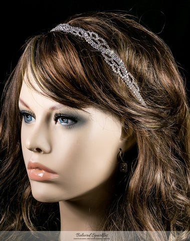 Panya Flower Petal Headband | Rhinestone - Beloved Sparkles  - 3
