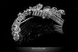 Jetta Delicate Floral Hair Comb | Crystal - Beloved Sparkles  - 3