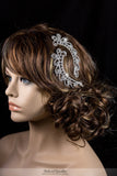 Lucia Art Deco Paisley Hair Comb Set | Crystal - Beloved Sparkles  - 3