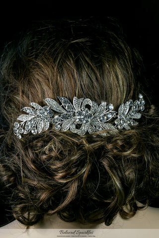 Tracey Ribbon Floral Hair Comb | Crystal - Beloved Sparkles  - 3