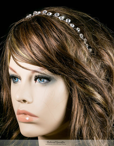 Nahia Solitaire Headband | Crystal - Beloved Sparkles  - 3