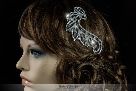 Dalice Vintage Paisley Hair Comb | Crystal - Beloved Sparkles